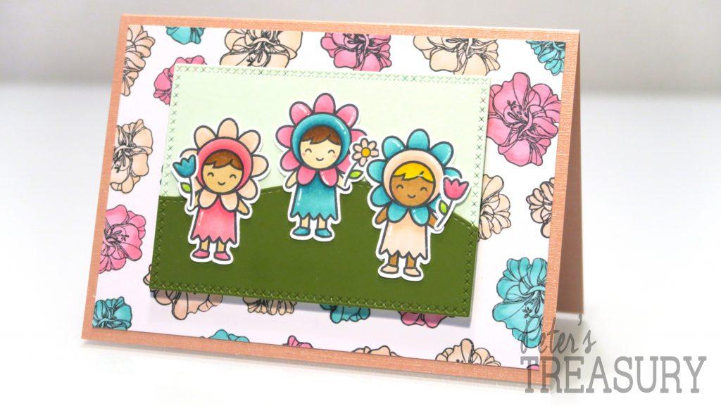 Lawn Fawn bloemenkaart