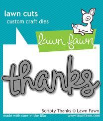 Lawn Fawn - Scripty Thanks