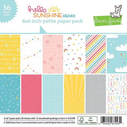 Lawn Fawn - Hello Sunshine Remix Petite Paper Pack
