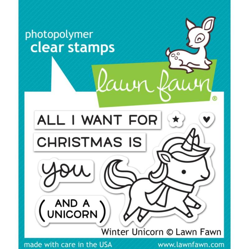 Winter Unicorn - Stamps