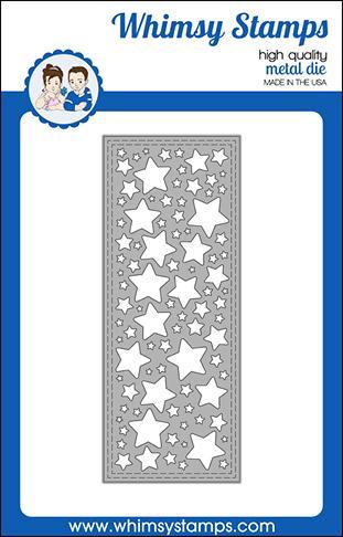 Whimsy Stamps - Slimline Stars Background Die