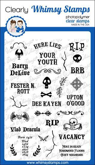 Whimsy Stamps - Grave Epitaphs