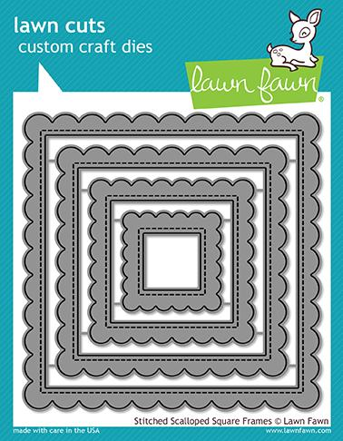 Lawn Fawn - Stitched Scalloped Square Frames