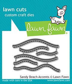 Lawn Fawn - Sandy Beach Waves