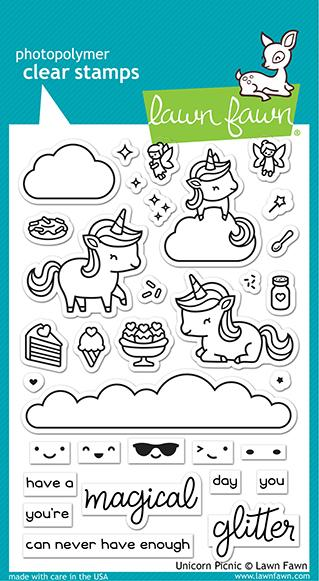 Unicorn Picnic - Stamps