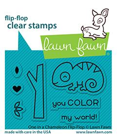 One In A Chameleon Flip-Flop - Stamps