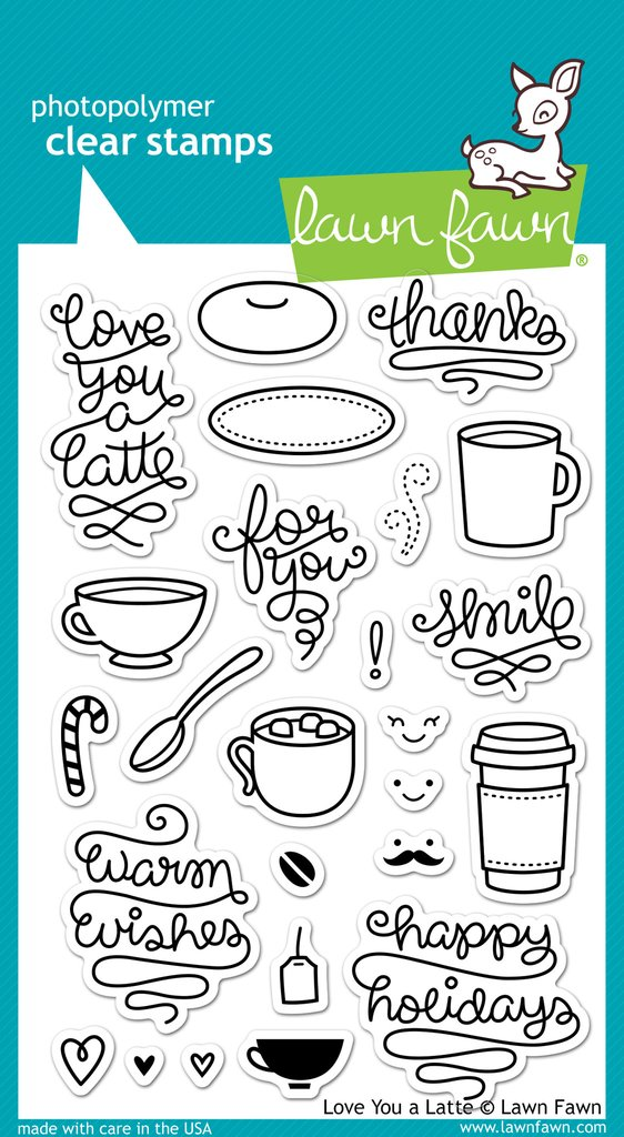 Love You A Latte - Stamps