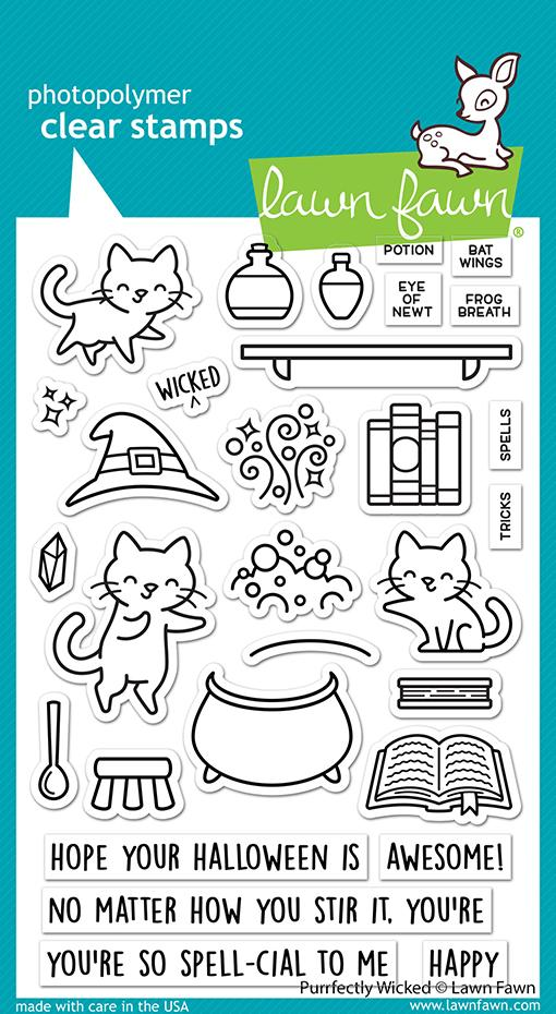 Purrfectly Wicked - Stamps