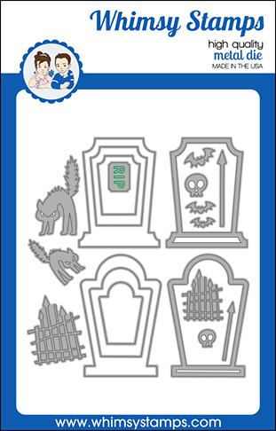 Whimsy Stamps - Build-a-Graveyard Die Set